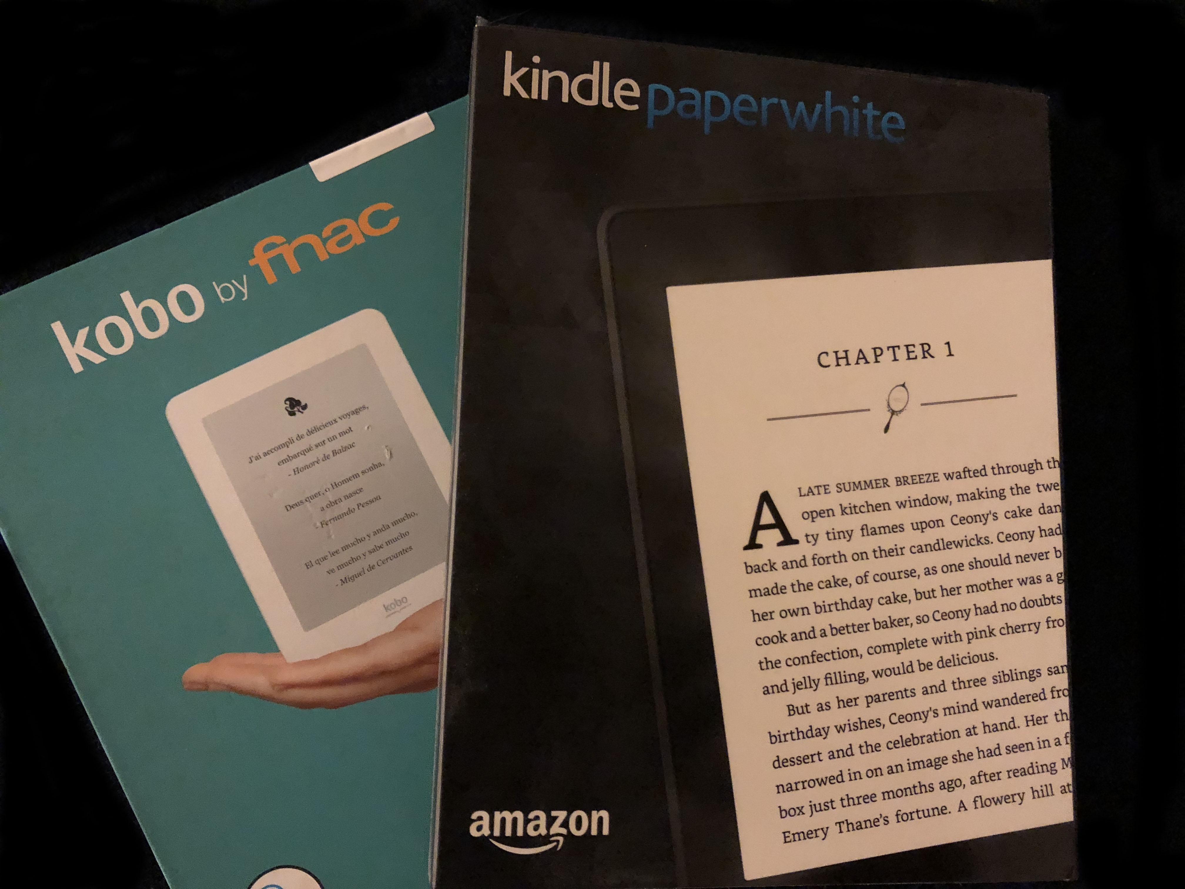 Choix d'une liseuse: Kindle ou Kobo ?