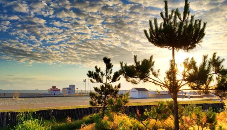 LH #Le Havre Plage soleil couchant