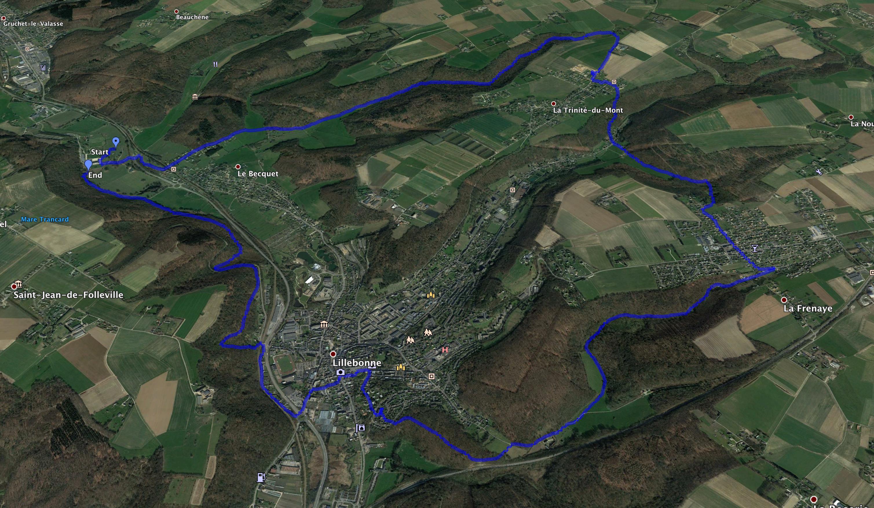 Parcours 18km Randonnées Nocturne