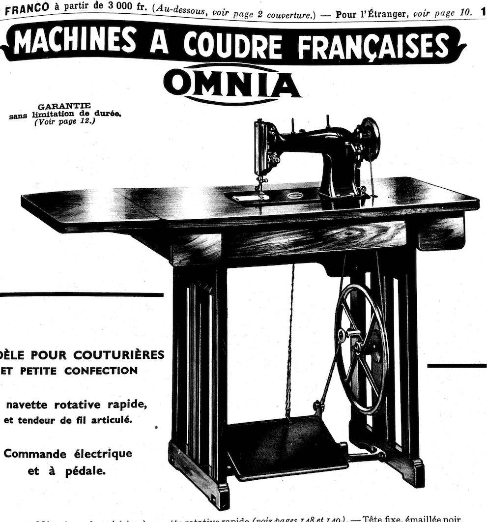 Manufrance - Machine à coudre Omnia