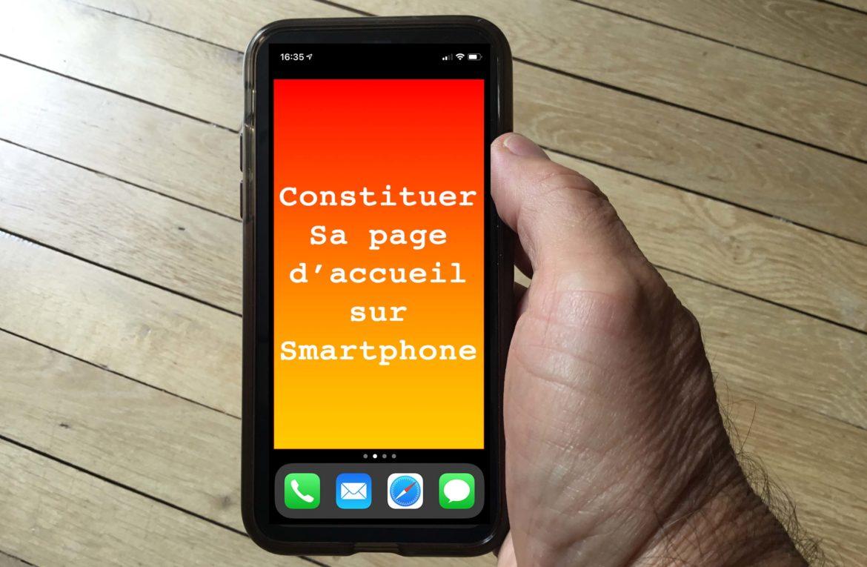 Stratégie pour une première page de smartphone